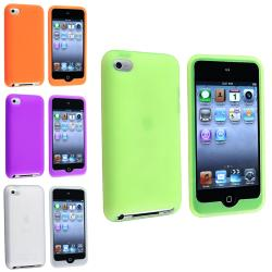 Green/ Orange/ Purple/ White Case for Apple iPod Touch 4th Generation
