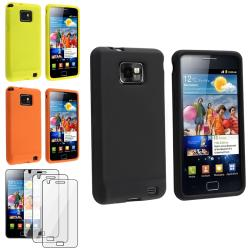 Silicone Skin Cases/ Screen Protector for Samsung Galaxy S II i9100