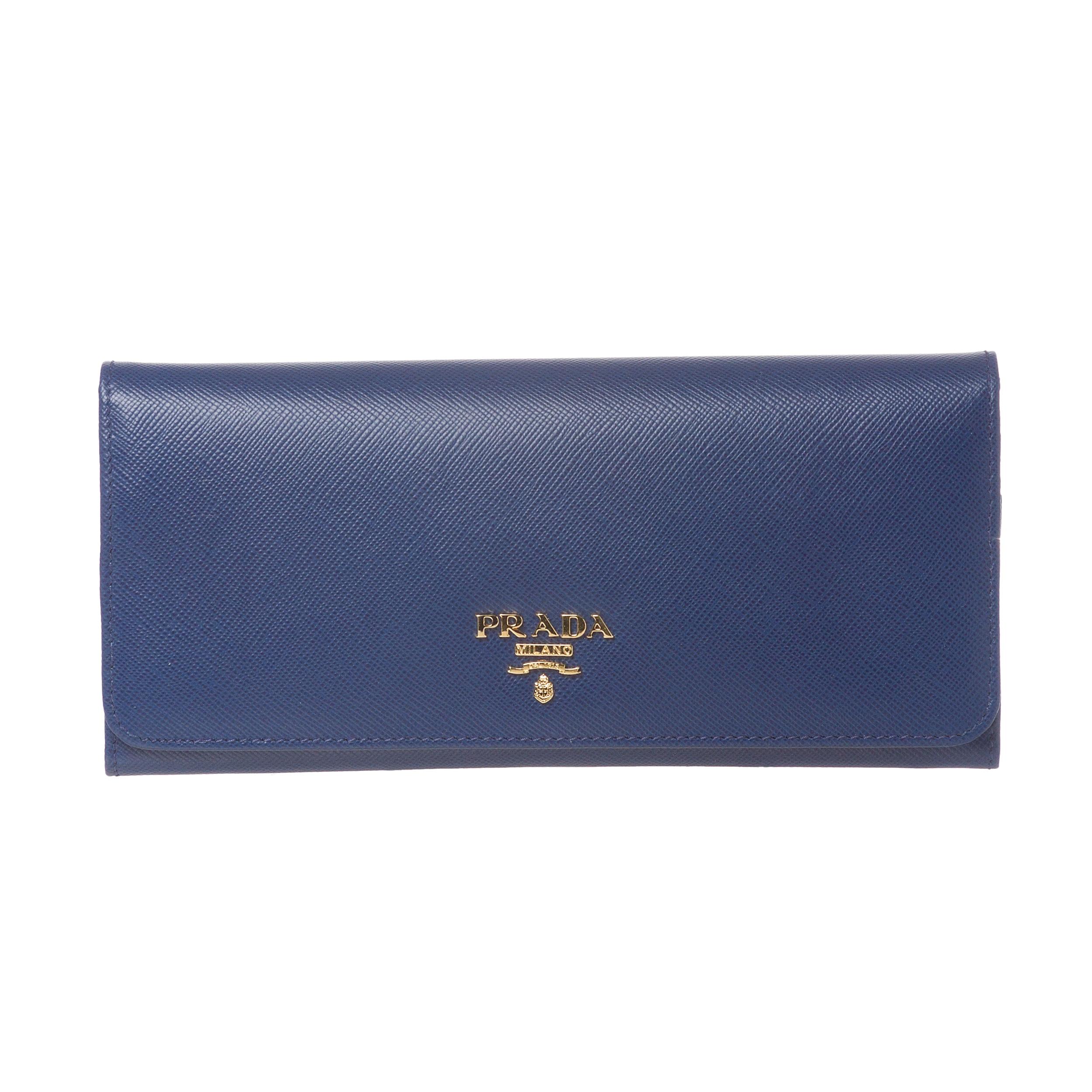 prada saffiano lux tote black - prada blue leather wallet