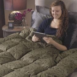 Oversized Cozy Comfort 300 Thread Count Natural Down Throw