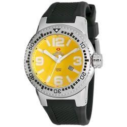 Swiss Precimax Men's Titan Yellow Dial Watch
