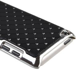 Black/ Diamond Leather Snap-on Case for Apple iPod Touch Generation 4