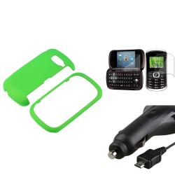 Green Case/ Screen Protector/ Car Charger LG VN530