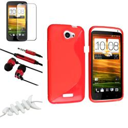 BasAcc Red Case/ Protector/ Headset/ Wrap for HTC One X