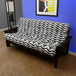 Black/ White Stripe Full-Size 6-inch Futon Mattress