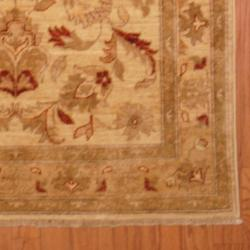 Afghan Hand-knotted Vegetable Dye Ivory/ Beige Wool Rug (3'10 x 5'10)