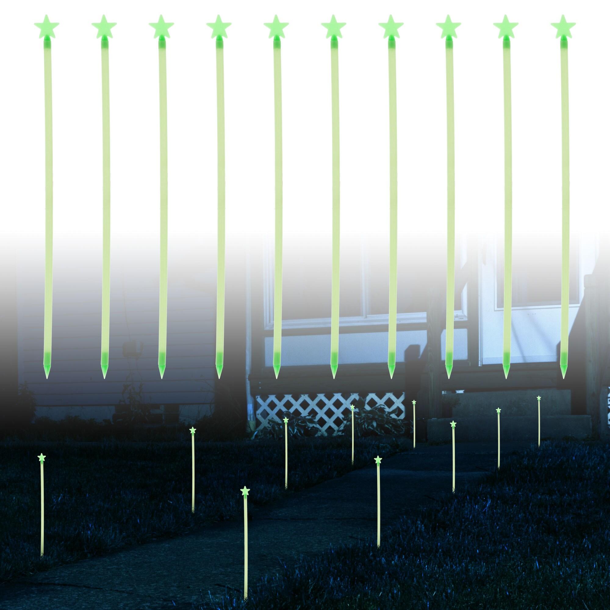 TerraTrade Glow-in-the-dark Star Path Marker Rods (Set of 10)