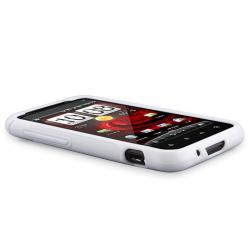 White TPU Case/ Screen Protector for HTC Droid Incredible S