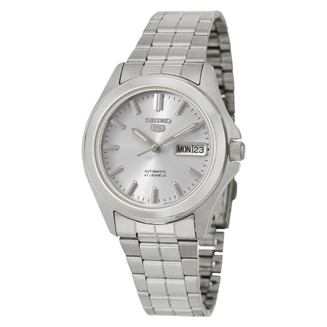 Seiko Men's 'Seiko 5' Stainless Steel Mechanical Automatic Self-winding Watch