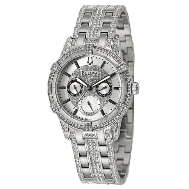 Bulova Men's 'Crystal' Stainless Steel Quartz Watch