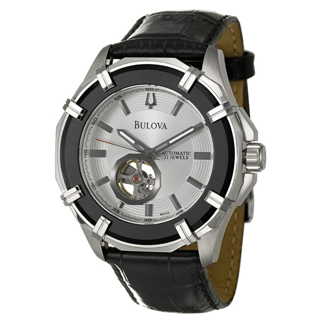 Bulova Men's 'Strap' Stainless Steel Automatic Self-winding Watch