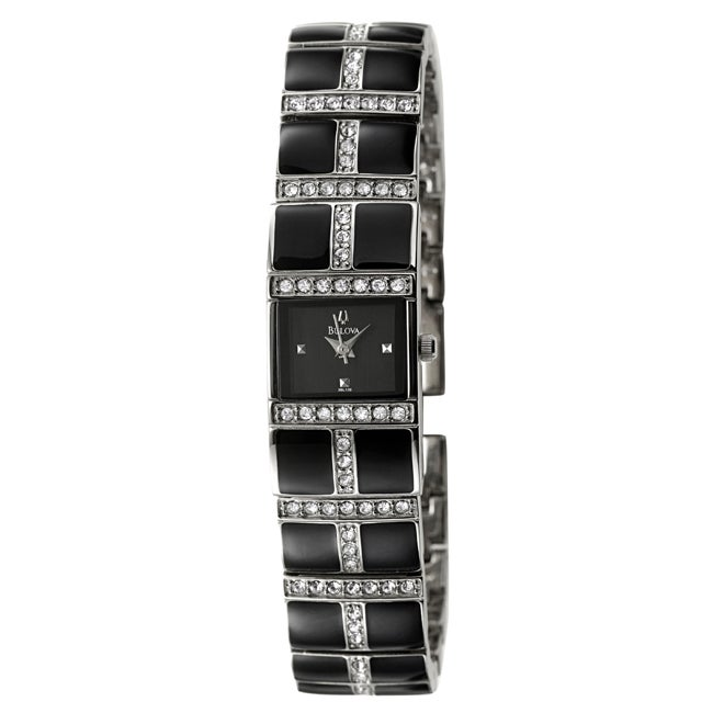 Bulova Women's 'Crystal' Stainless Steel Quartz Watch