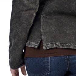 AtoZ Women's Black Cotton 2-button Jacket