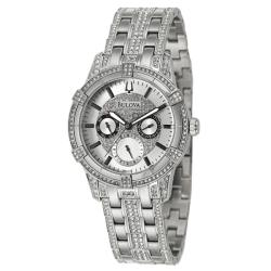 Bulova Men's 'Crystal' Stainless Steel Quartz Watch