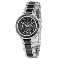 Bulova Women&#39;s &#39;Diamonds&#39; Stainless Steel Quartz Watch