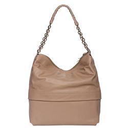 Christian Louboutin 'Marianne' Beige Leather Hobo Bag
