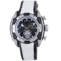 Juventus Men's Black Dial 24 Hour Display Chronograph Leather Quartz Watch