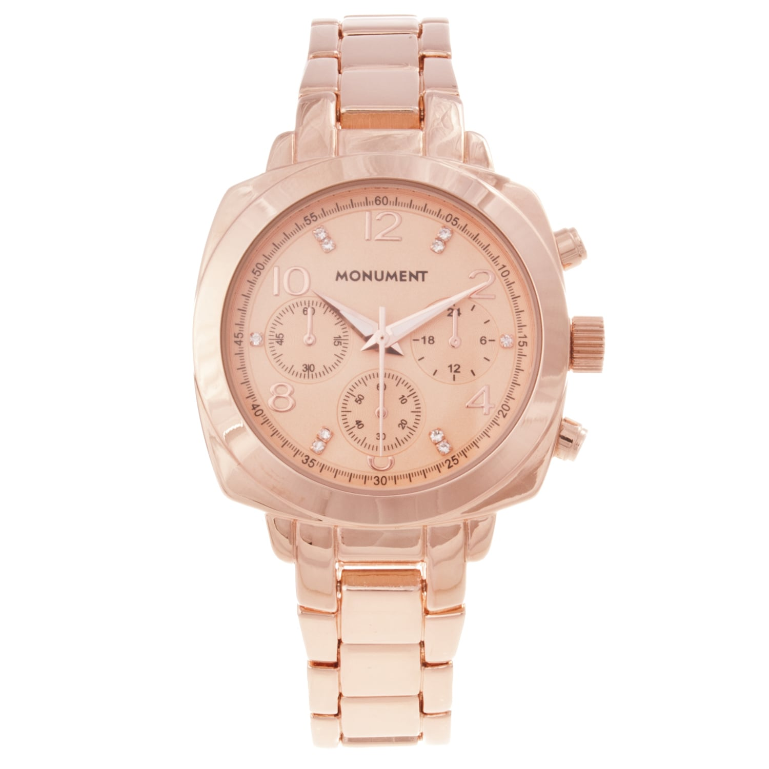 Monument Women's Crystal Rose-goldtone Bracelet Watch