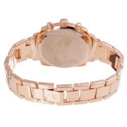 Monument Women's Crystal Rose-goldtone Bracelet Watch