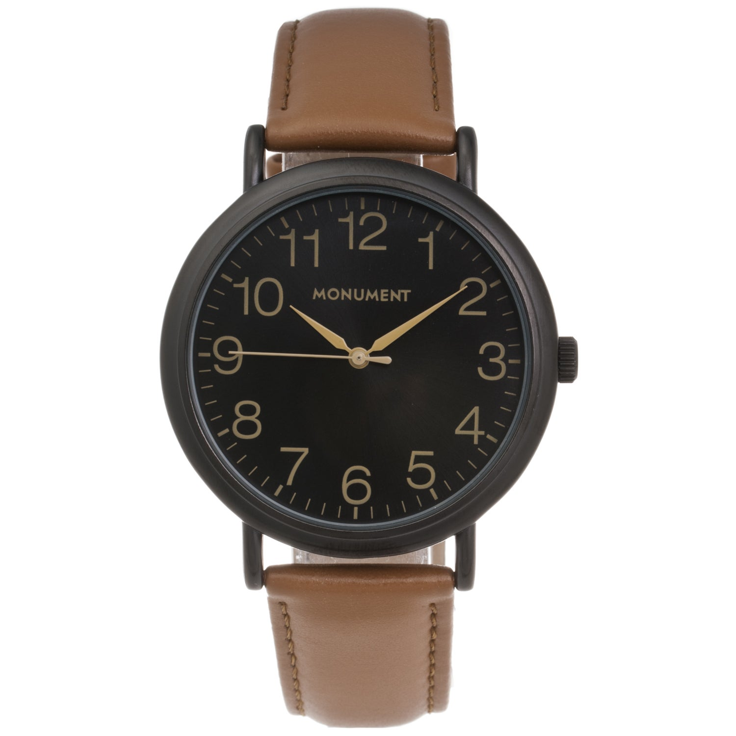 Monument Men's Synthetic Leather Strap Analog Watch