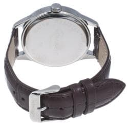 Monument Men's Faux Crocodile Strap Analog Watch