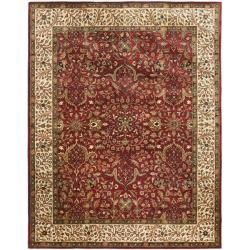 Handmade Persian Legend Red/ Ivory Wool Rug (9'6 x 13'6)