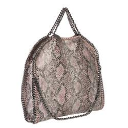 Stella McCartney 'Falabella' Python Print Canvas 3-strap Tote Bag