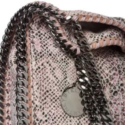 Stella McCartney 'Falabella' Python Printed Canvas Tote Bag
