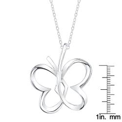 Sterling Silver Open Butterfly Necklace