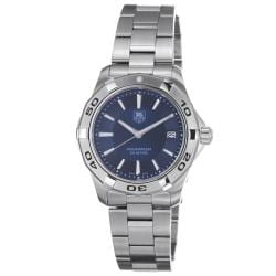 Tag Heuer Men's WAP1112.BA0831 '2000 Aquaracer' Blue Dial Stainless Steel Watch