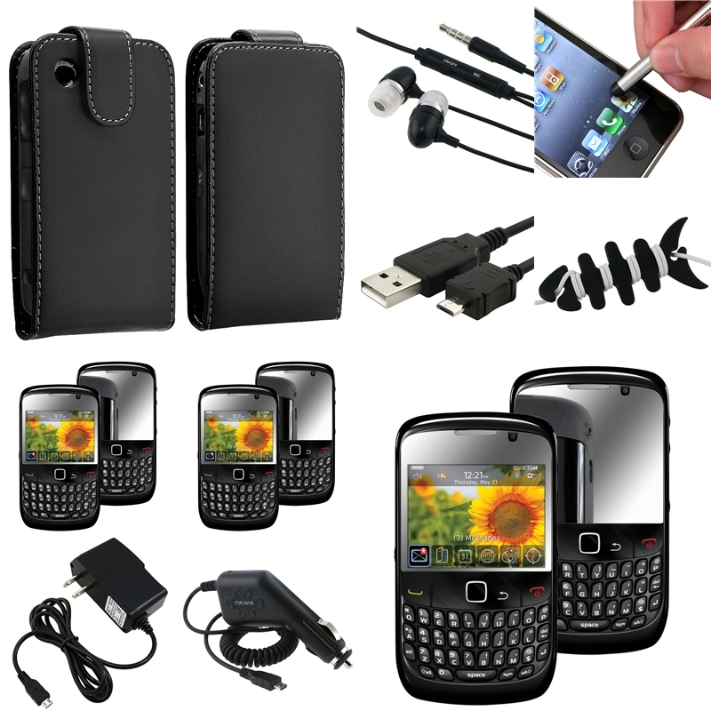 Case/ Screen Protector/ Chargers/ Headset for BlackBerry Curve 8520