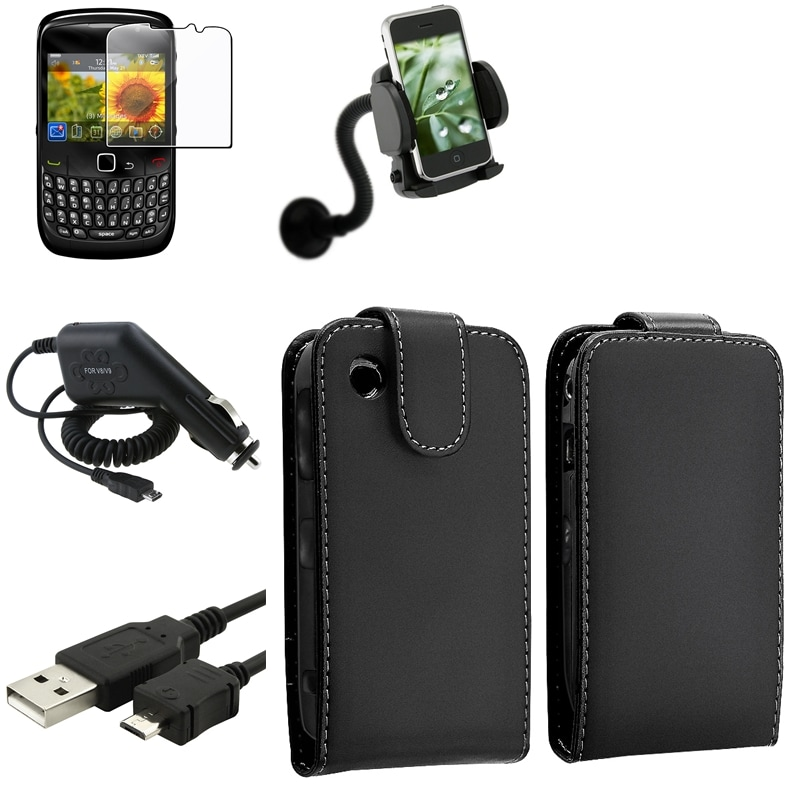 Case/ Screen Protector/ Charger/ Mount for BlackBerry Curve 8520