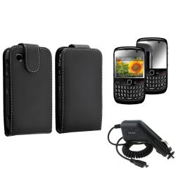 Case/ Mirror Screen Protector/ Car Charger for BlackBerry Curve 8520