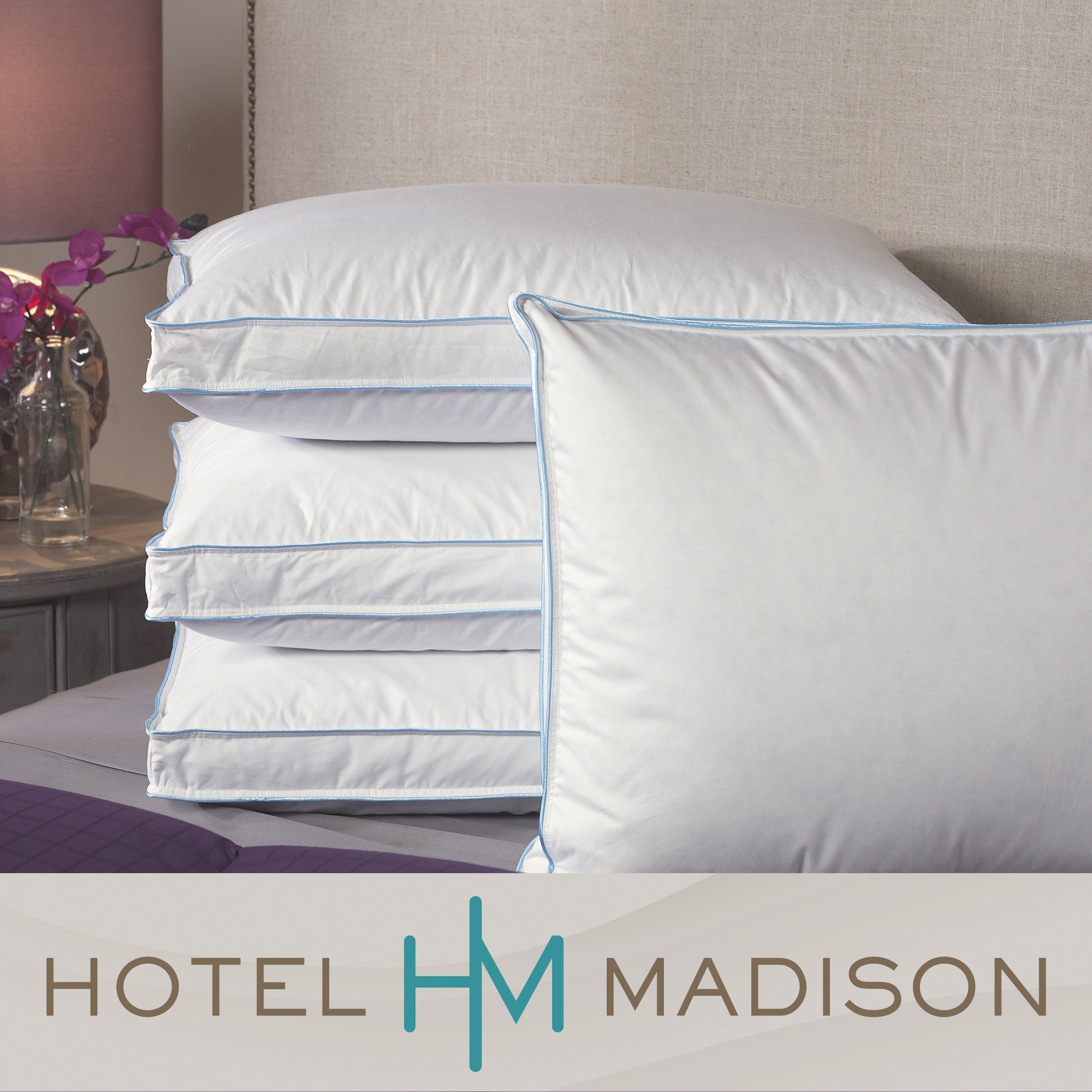 Hotel Madison Premium Support Feather/ Down Pillows (Set of 4)