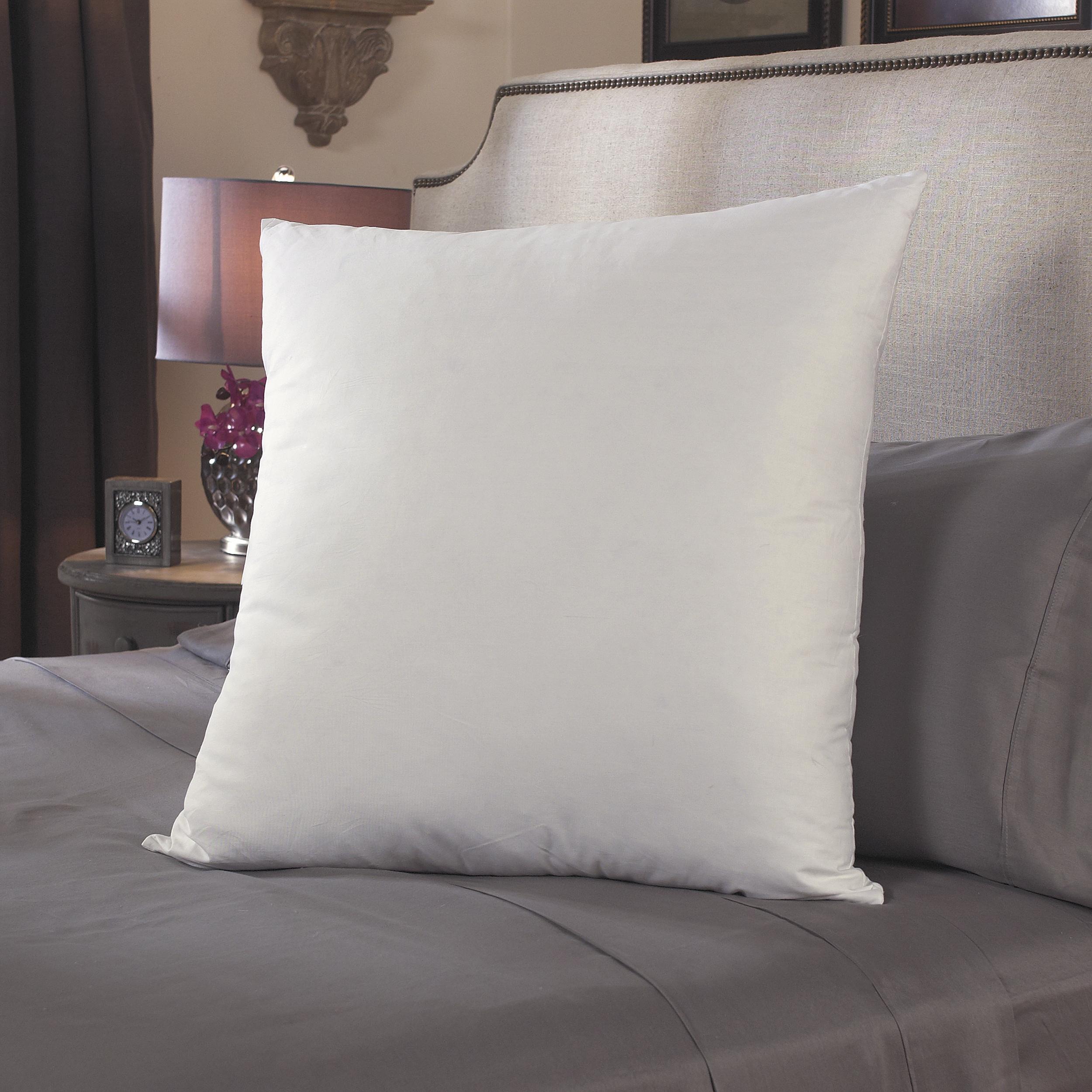Famous Maker Decorative Euro White Feather/ Down Pillows (Set of 2)