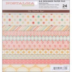 My Mind's Eye Nostalgia 6x6-inch Paper Pad (24 Sheets)