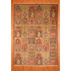 Persian Hand-knotted Tribal Bakhtiari Beige/ Blue Wool Rug (6'6 x 9'2)
