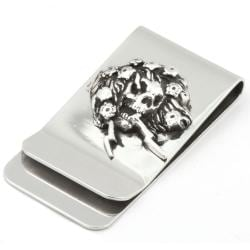 Ed Hardy Ghost Stainless Steel Money Clip