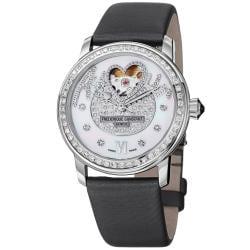 Frederique Constant Women's 'LadiesAutomt' Silver Diamond Dial Watch