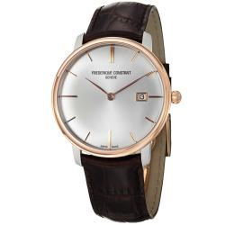Frederique Constant Men's 'Slim Line' Silver Dial Two Tone Watch