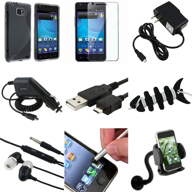 TPU Case/ Headset/ Cable/ Charger/ Holder for Samsung Galaxy S II i777