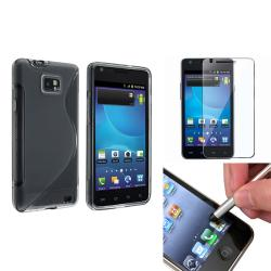 Smoke TPU Case/ Protector/ Stylus for Samsung Galaxy S II AT&T i777