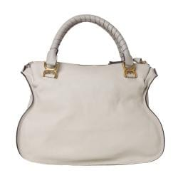 Chloe 'Marcie' Large Grey Leather Shoulder Bag