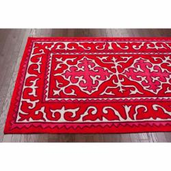 nuLOOM Handmade Spanish Tile Red Rug (7'6 x 9'6)
