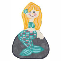 nuLOOM Handmade Kids Mermaid Multi Rug (2'6 x 4')