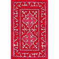 Handmade Spanish Tile Red Rug (5' x 8')