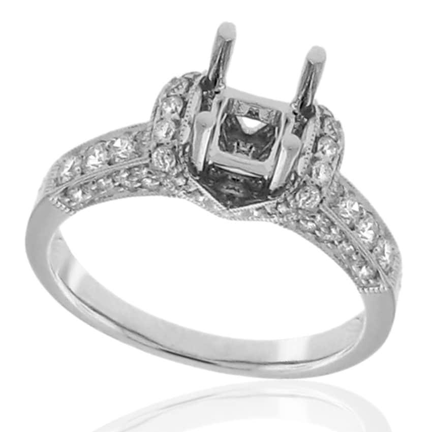 14k White Gold 3/5ct TDW Diamond Engagement Ring