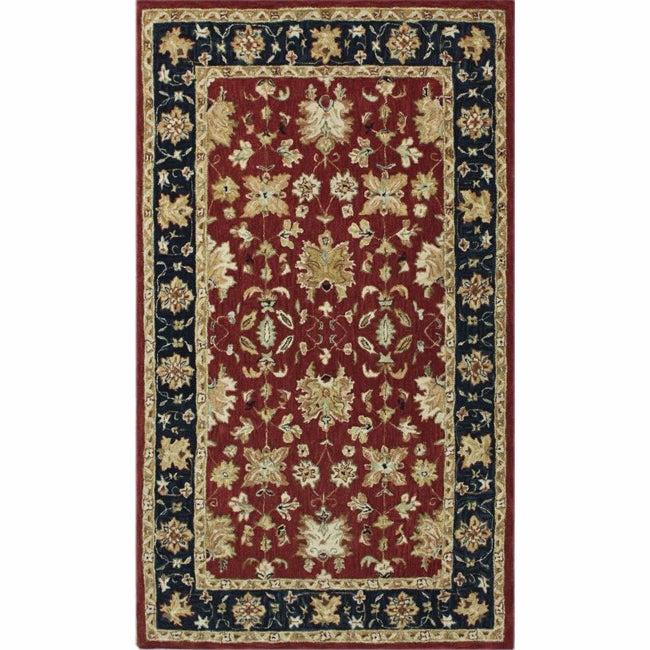 nuLOOM Handspun Decorative Persian Red New Zealand Wool Rug (8' x 10')