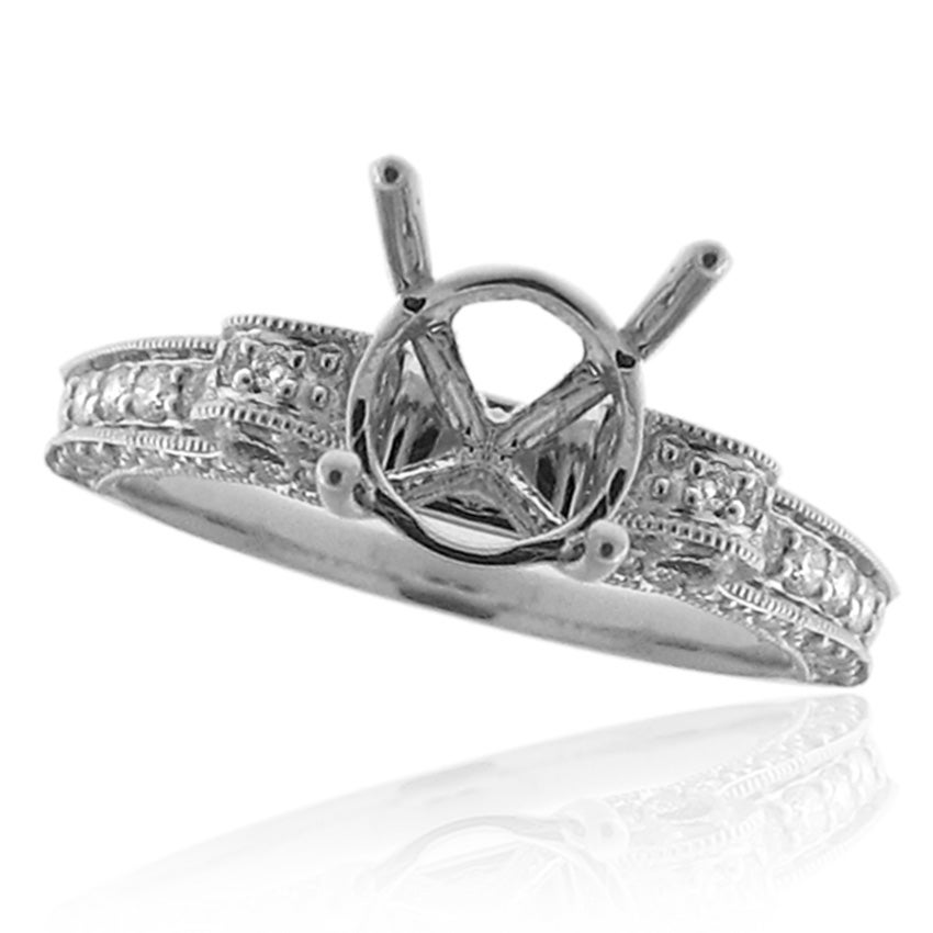 14k White Gold 1/2ct TDW Diamond Engagement Ring