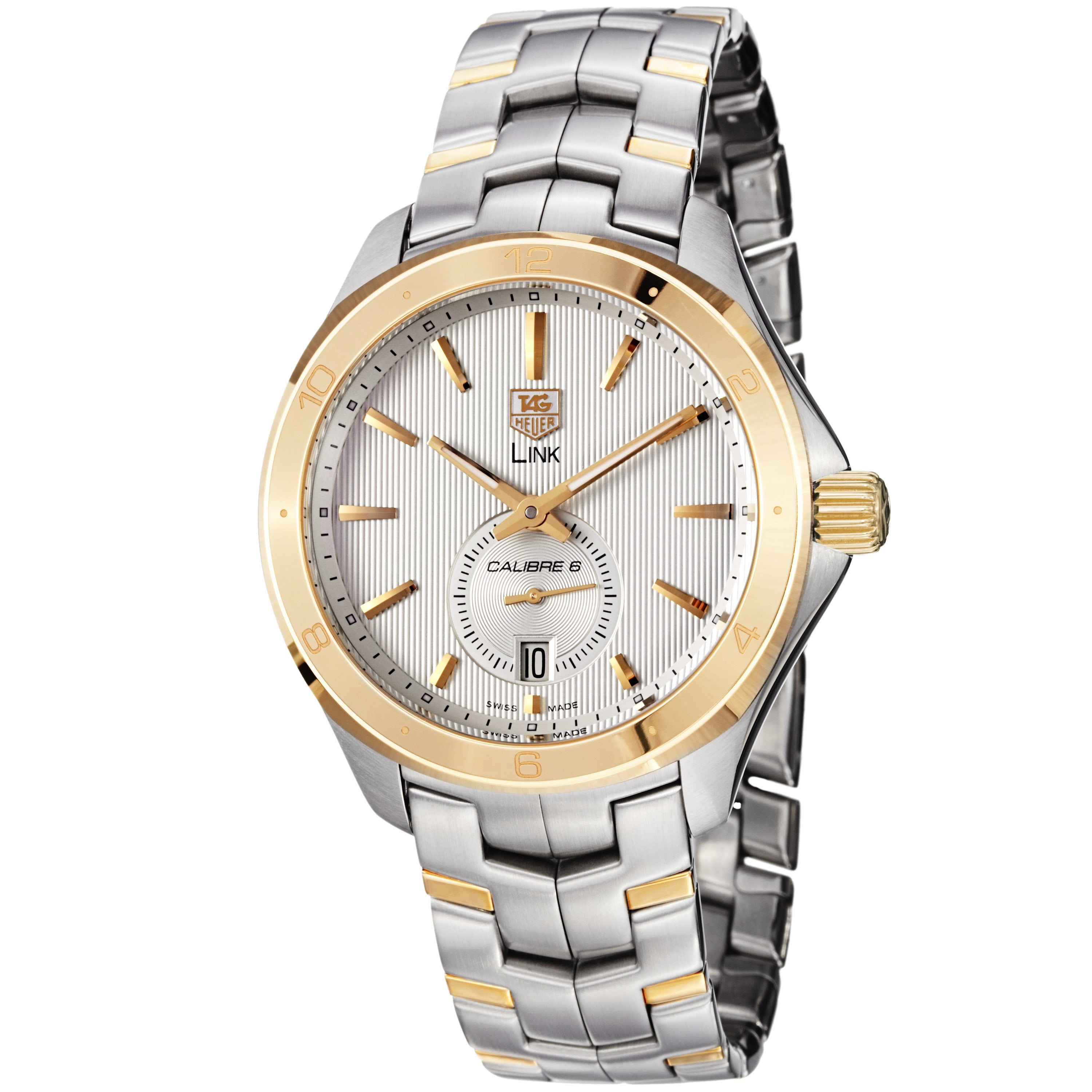 Tag Heuer Men's WAT2150.BB0953 'Link' Silver Dial Two Tone Stainless Steel Watch